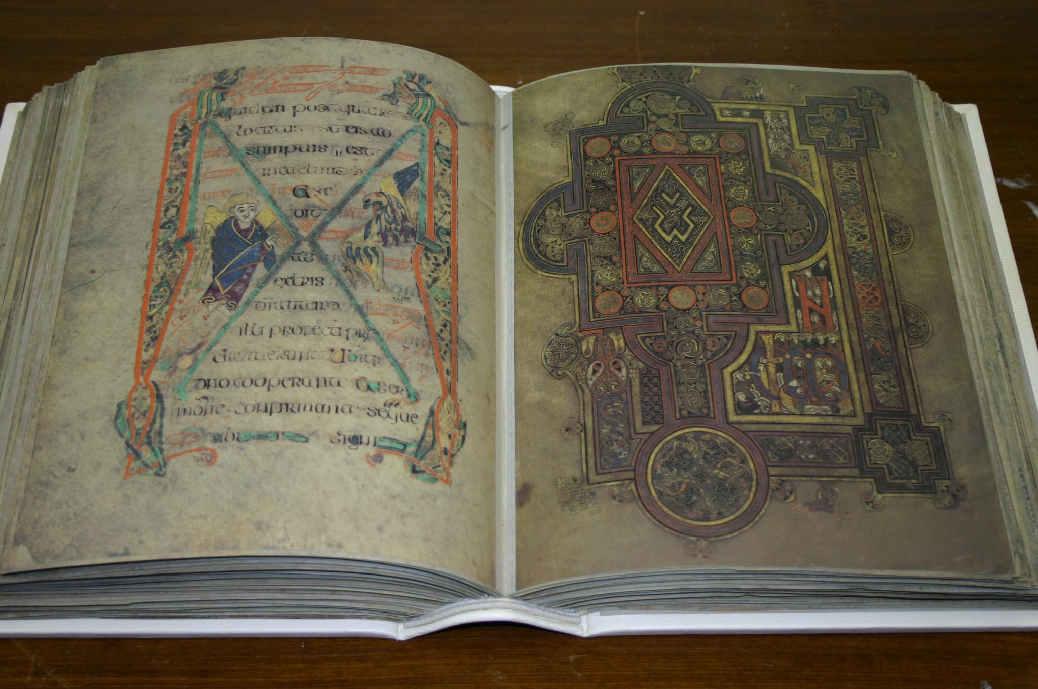 Kopie van het Boek van Kells van de Victoria Universiteit Melbourne