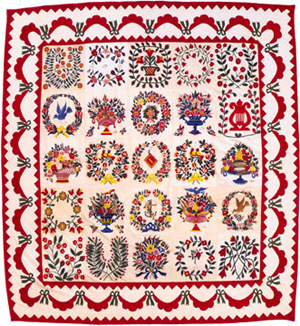Baltimore album quilt uit 1851
