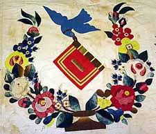 Baltimore quilt, verkocht in februari 2006 voor $ 58.000 - detail