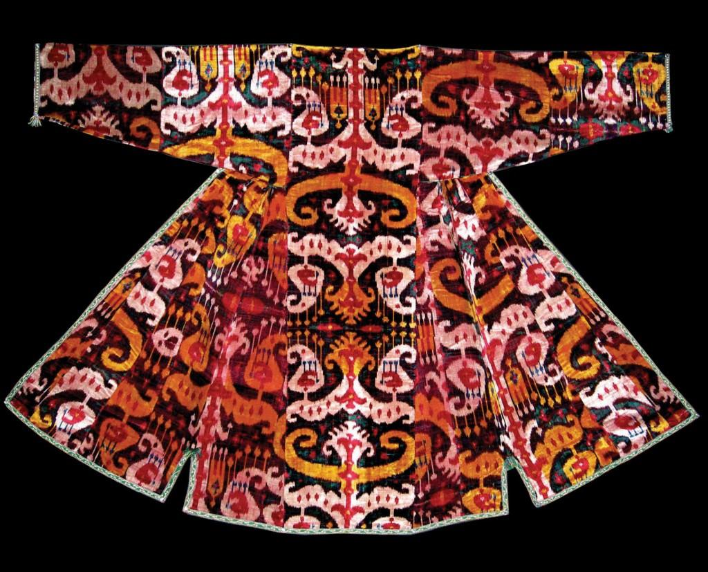 Chapan van ikat uit Oezbekistan, begin 20ste eeuw - khalat - Handwerkwereld