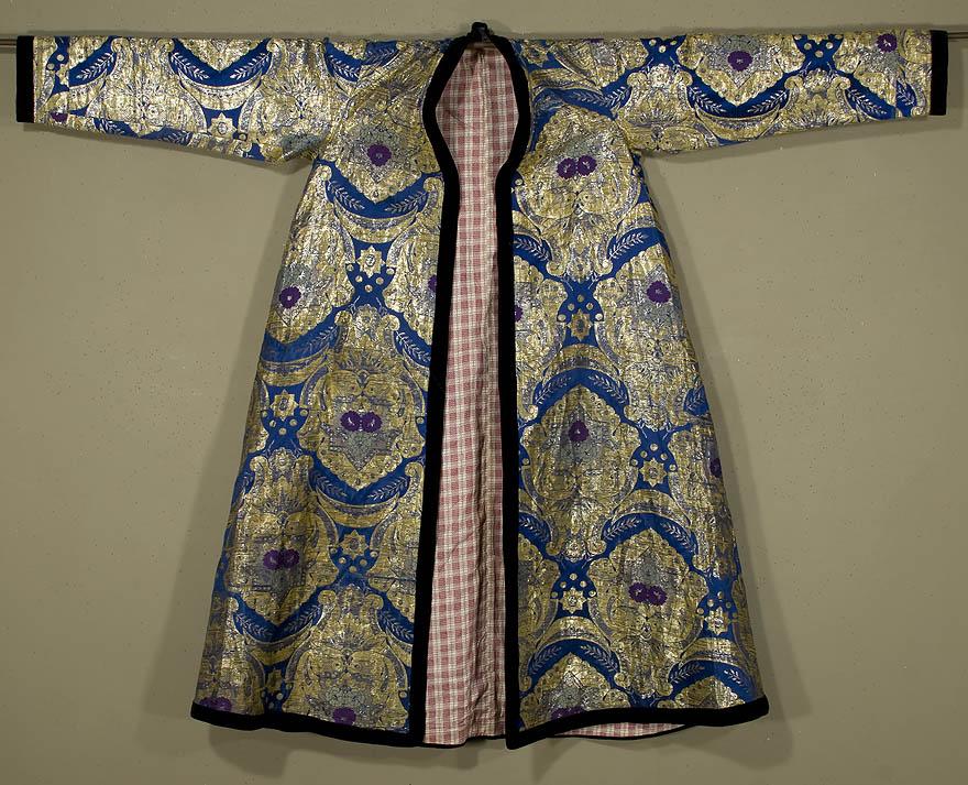 Khalat uit Boekhara van zijdebrocaat, laat 19de eeuw