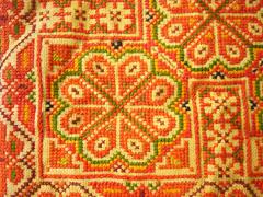Karentasje - detail van het borduurwerk