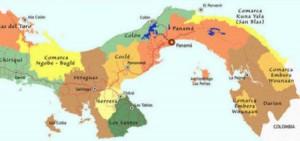 Kaart Kuna Yala, Panama
