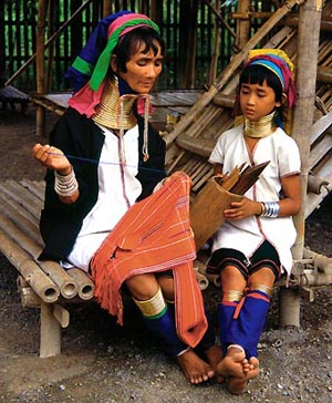 Padaung-vrouwen - Handwerkwereld
