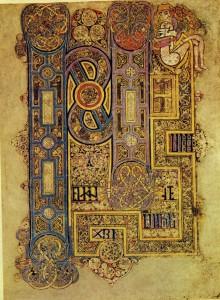 Book of Kells - openingspagina evangelie van Marcus