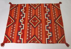 Navajo deken met terras- en getrapte patronen, circa 1870-1880 - Brooklyn Museum