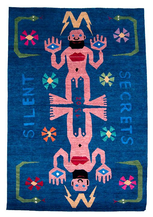 Textielmuseum - Silent Secrets - handgeknoopt in Nepal - Walter Van Beirendonck 2013 - foto Galerie Vrouyr