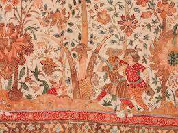 Vloerkleed - geschilderde en geverfde katoen - Coromandelkust, ca. 1630 - Victoria & Albert Museum