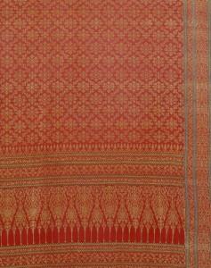 Stof van geweven zijde en gouddraad uit Gujarat voor de Thaise markt - Victoria & Albert Museum