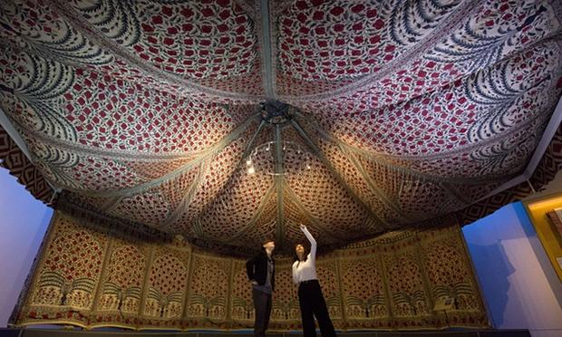 Tent van Tipu Sultan, totaaloverzicht, laat-Mughal, ca. 1725 - 1750, Victoria & Albert Museum
