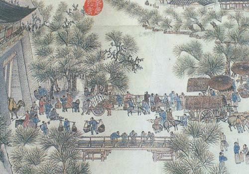 Een klassiek afbeelding in Dongtai-haarborduurwerk.