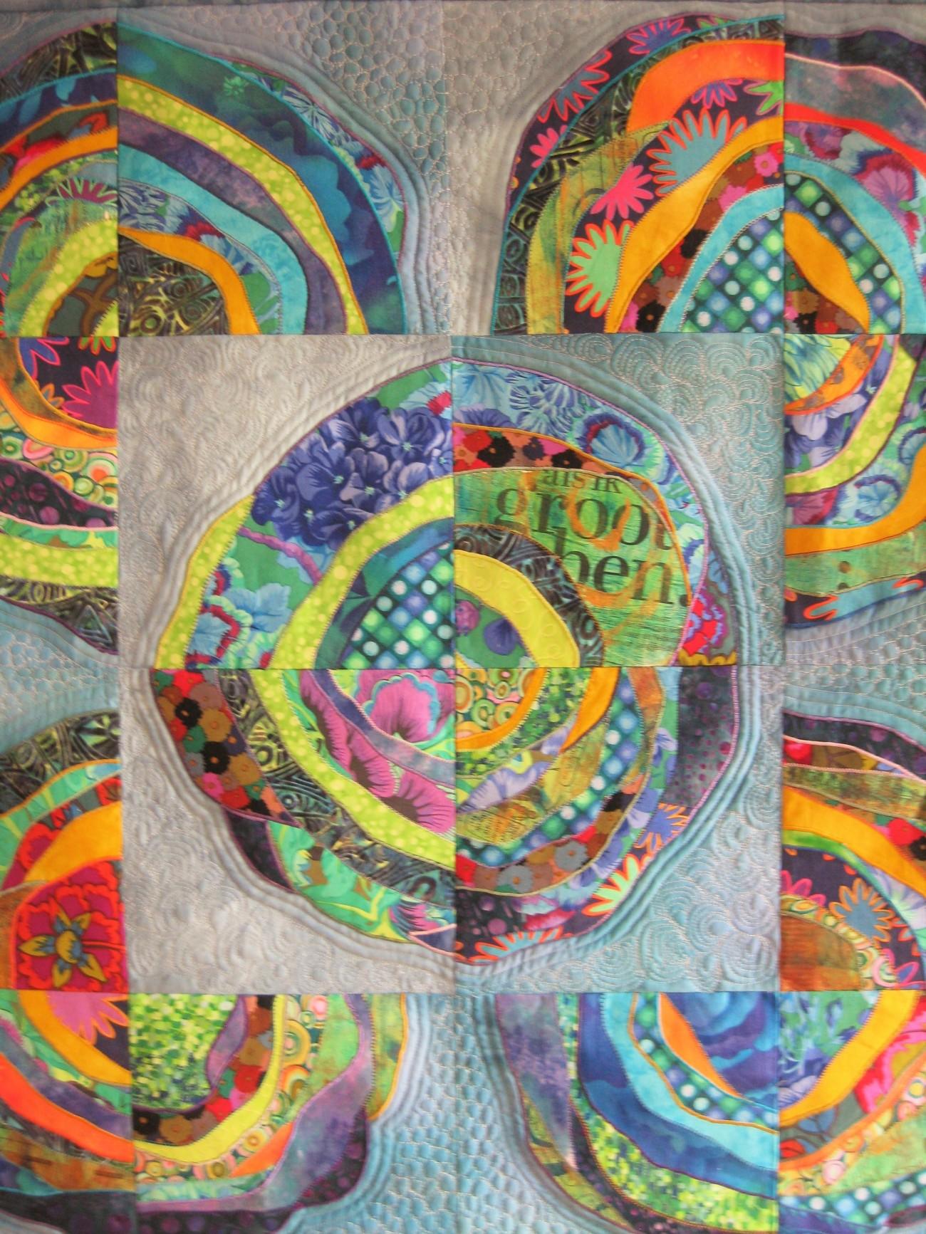Art-quilt van de Quiltgroep Roden.