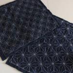 Tafelkleedjes met Sashiko-patronen.