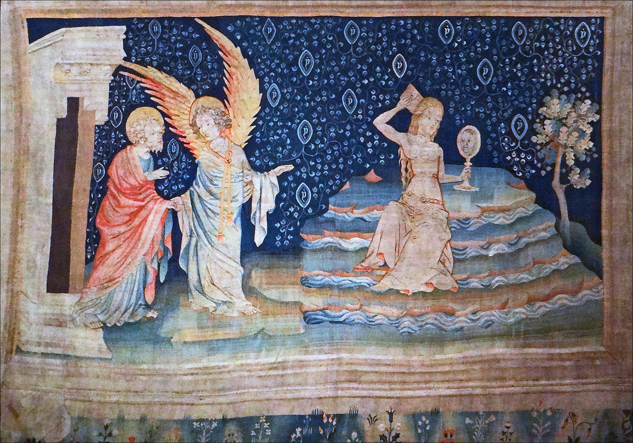 La Grande Prostituée sur les eaux, afbeelding uit het vijfde deel van het kleed - foto Jean-Pierre Dalbéra.