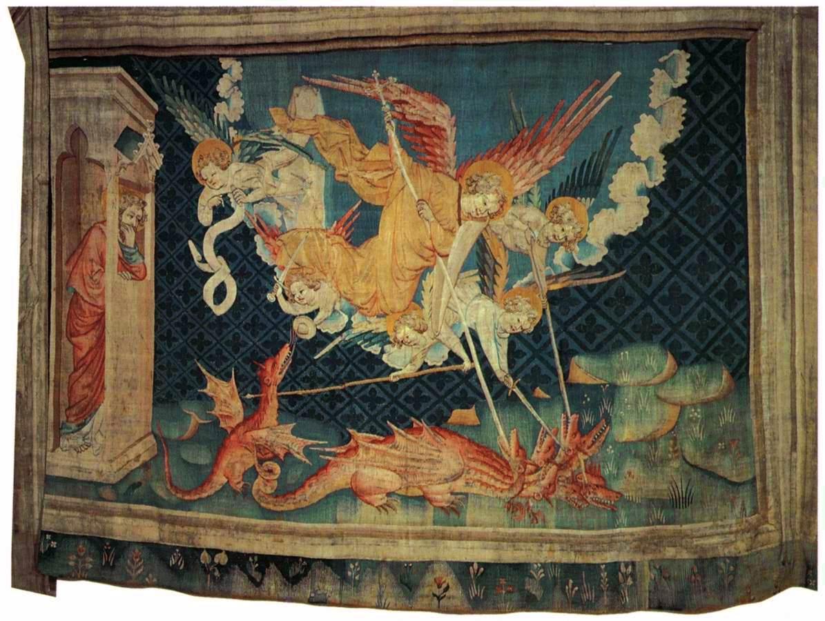 St. Michael bevecht de draak.