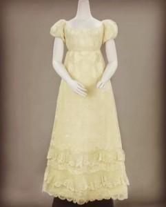 Japon van Blonde of zijden kloskant, circa 1815 - 1820.