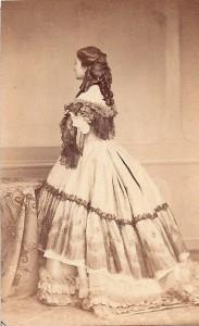 Ghémar L.-J, Eugénie Doche (la Dame aux Camélias), inspirator van A. Dumas 1860-1862 (Eric Van Laethem collectie).