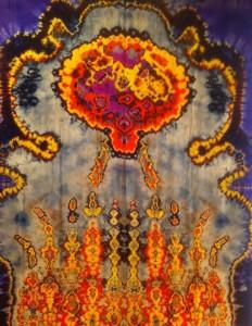 Shibori-werk van Marian Clayden.