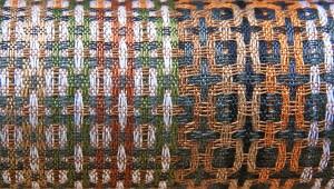 'Op pad', detail weefwerk Anneke Fennema.