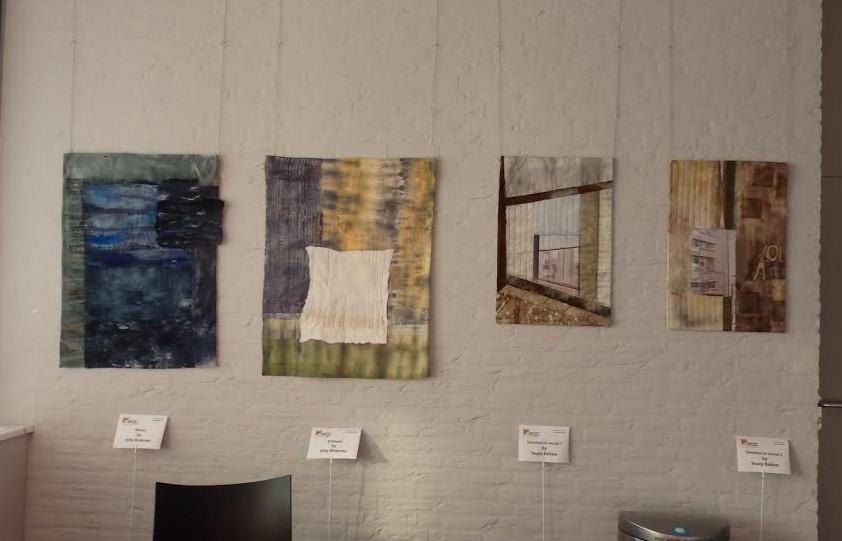 Enkele van de tentoongestelde werken.