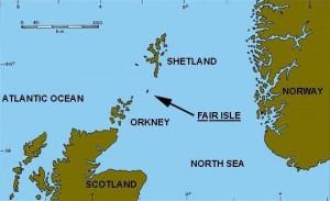 Locatie van de Shetland Eilanden.