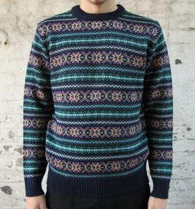 Fair Isle trui met het bekende OXO-patroon - foto jgthi.com.