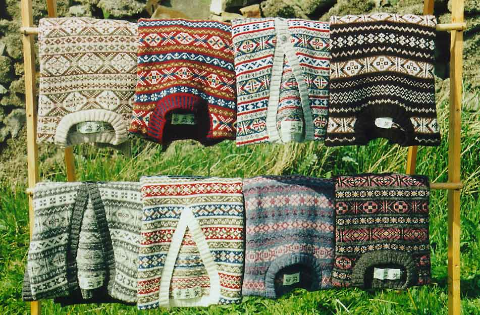 Een collectie Fair Isle truien.