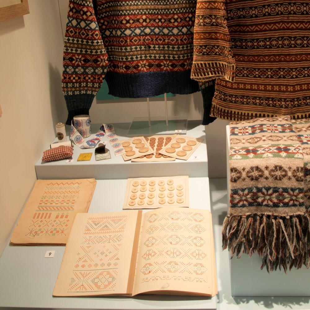 Het oudst bekend boek met Fair Isle-patronen - foto Shetland Museum.