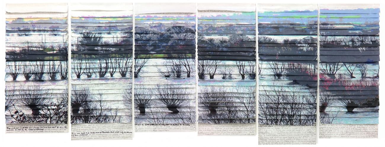 Sandra Meech, (GB), Reality & Rhetoric, 100 x 260 cm.