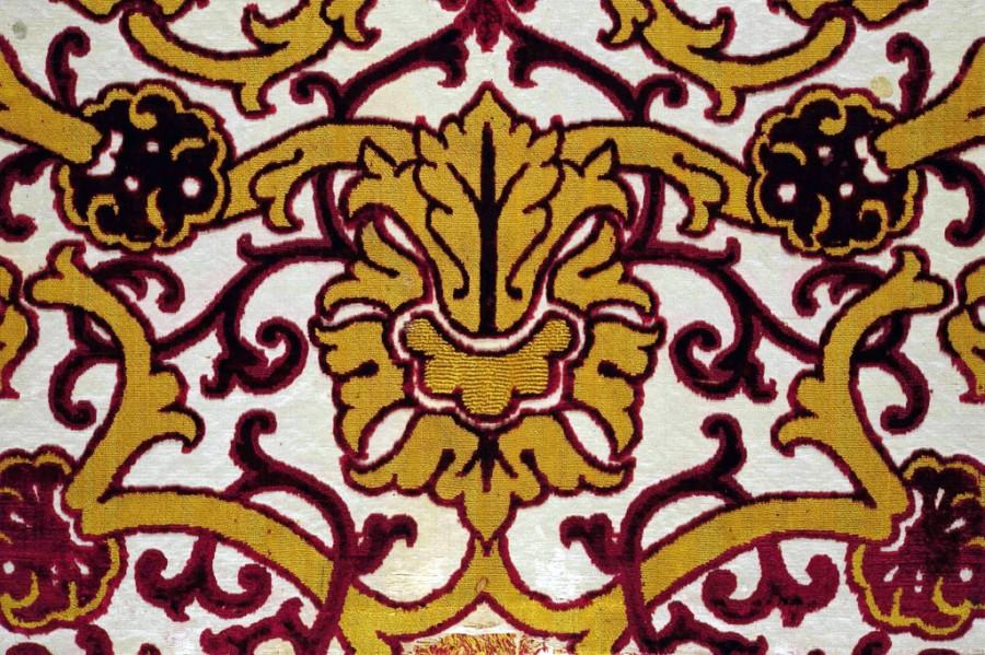 Italiaanse of Spaanse zijden stof, 15de eeuw.