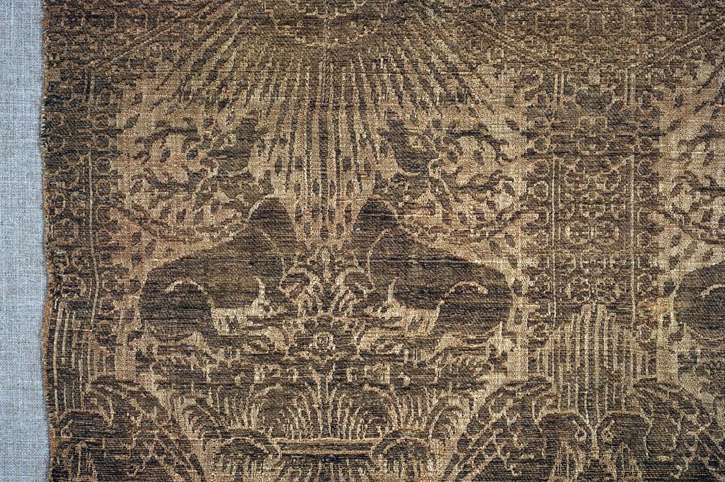 Italiaanse zijden lampas, 15de eeuw.