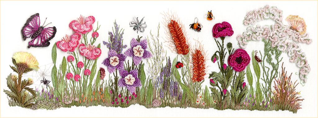 Een veelvoud aan bloemen in Braziliaans borduurwerk - foto EdMar.