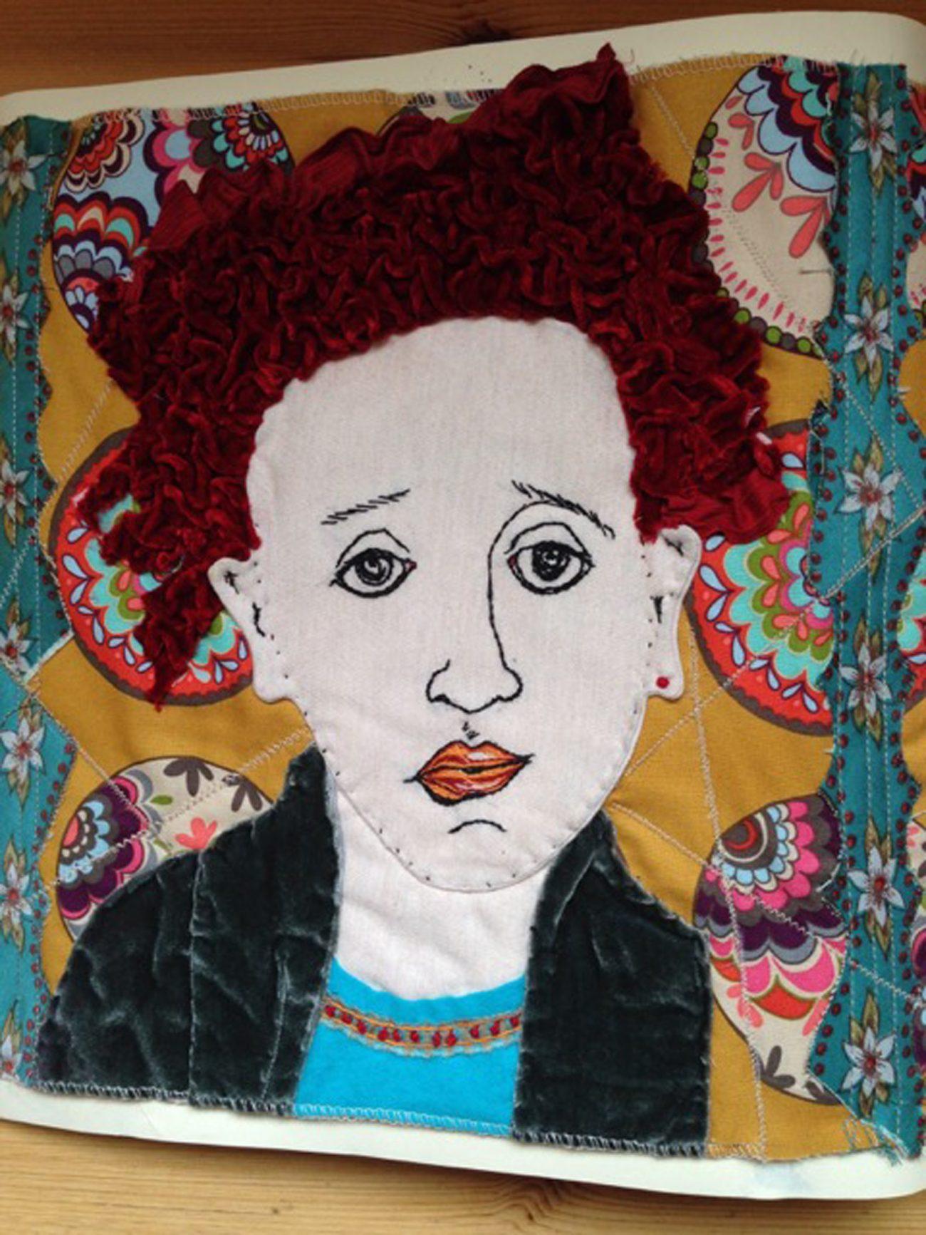 Stefanie Gruber, Oh-skar, 2015, textiel gemengde techniek.