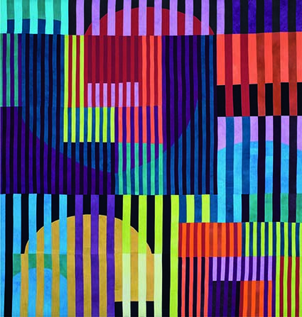 Vibrant Color Bars, 2015, Ruth Bosshart Rohrbach, Zwitserland.