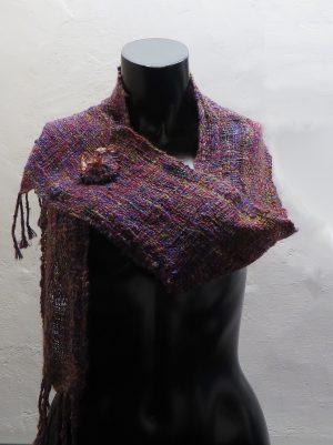 Geweven sjaal door Weefkring Goes.