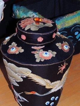Japanse vaas van Anneliese van Atelier Delftse Vrouwen.