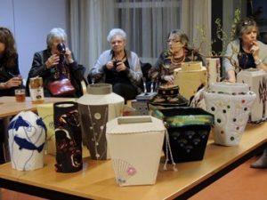 Japanse vazen van Atelier Delftse Vrouwen.