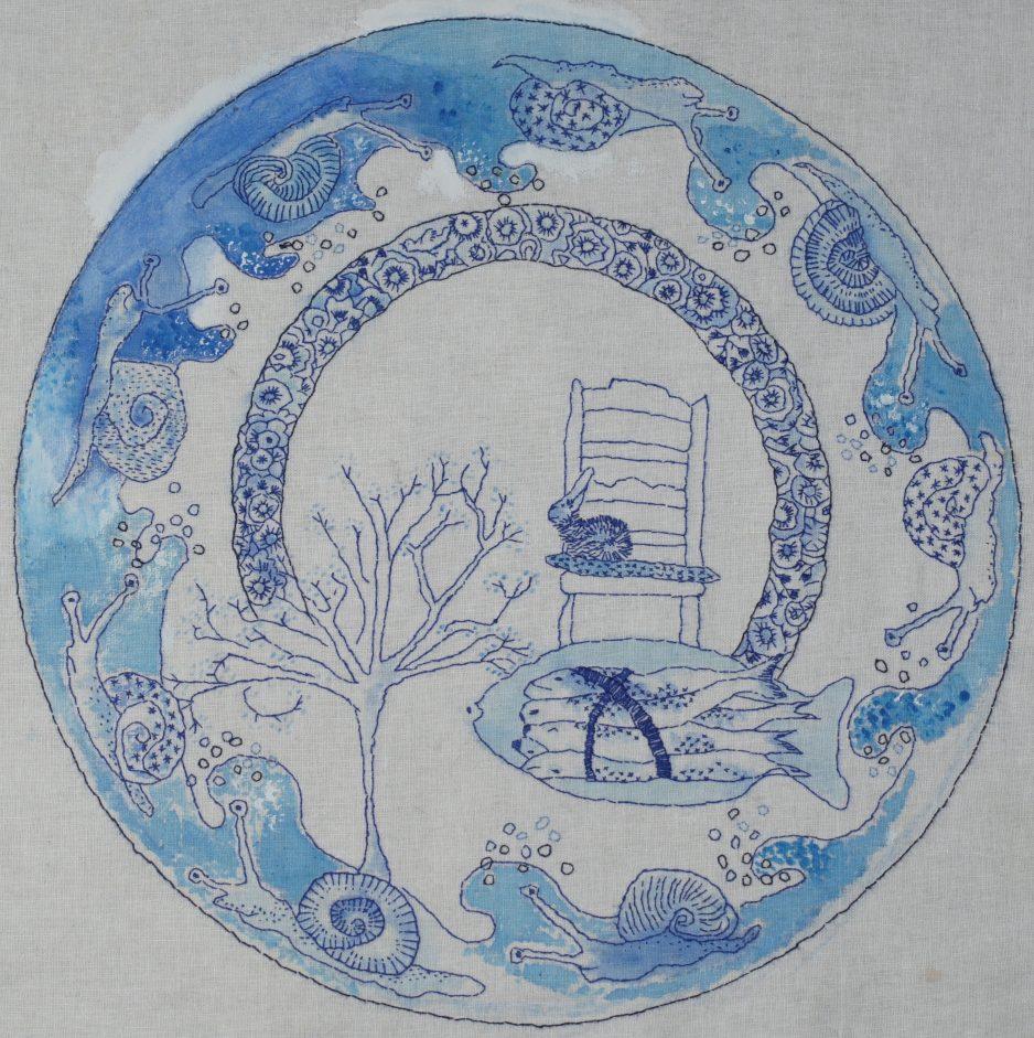 Werk van Corine Post - Delfts blauw.