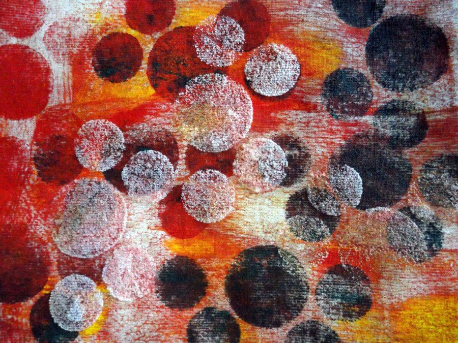 Werkstuk van een student van de DIY Textile School.