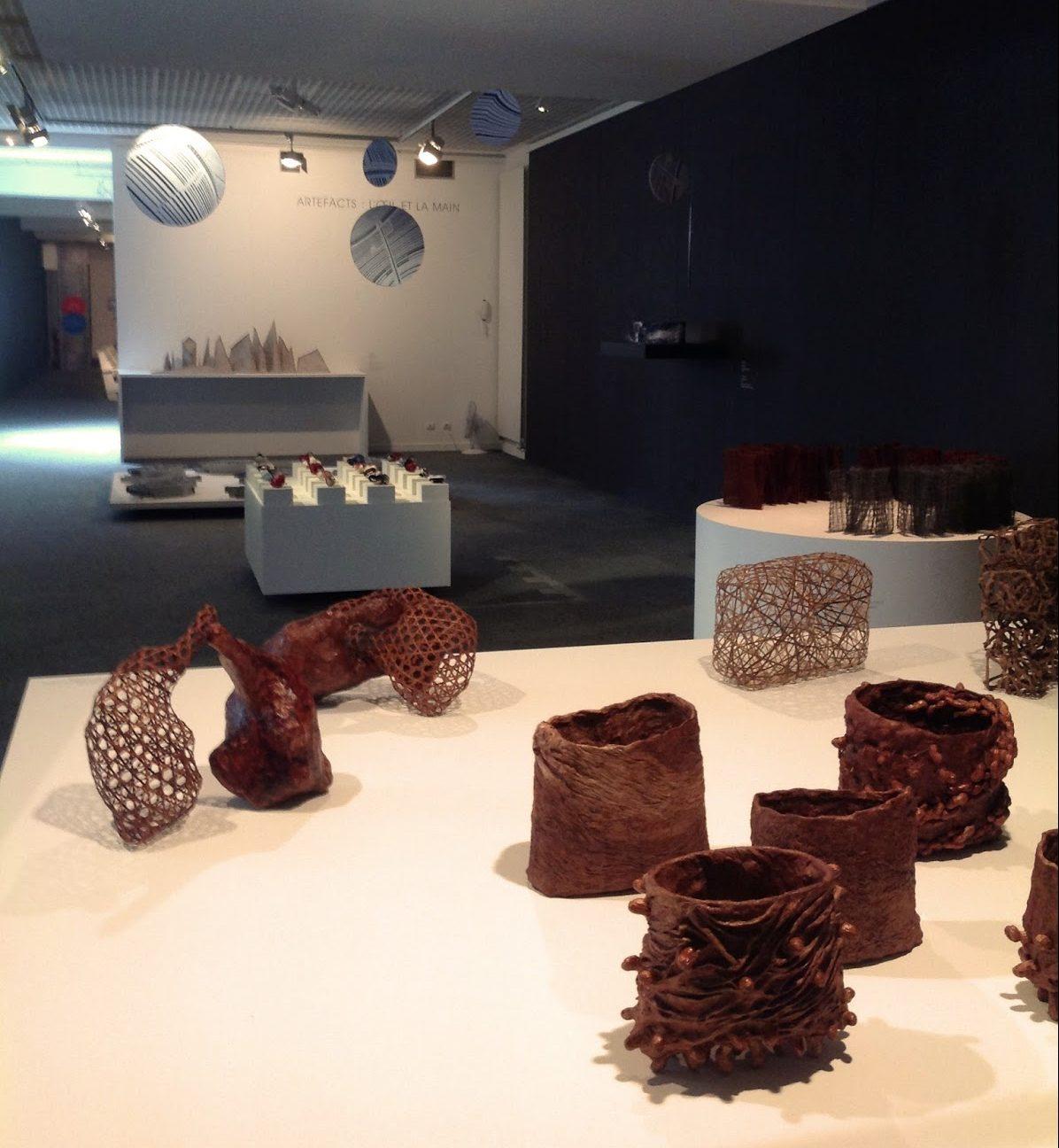 Asia-Europe Fiber Art III - Overzichtsfoto tentoonstelling in het Jean Lurçat Museum, Angers, Frankrijk - 2015.