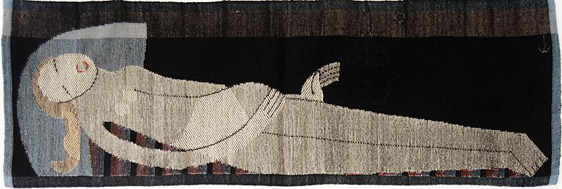 Johanna Schütz-Wolff - Liegende (1924, foto Textil Forum).