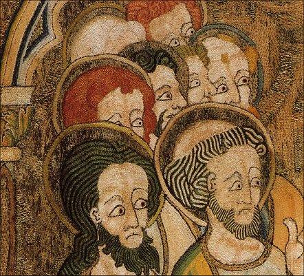 Detail van een antependium, Engels, 1315-1335.