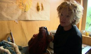Claudy Jongsma in haar atelier.