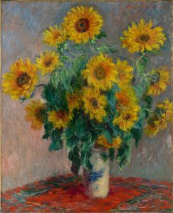 Het origineel van Zonnebloemen van Claude Monet - Metropolitan Museum of Art.