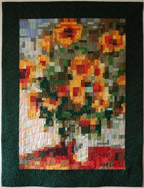 Quilt naar Monets Zonnebloemen (2002).