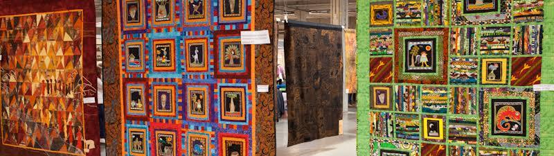 Er zijn meer dan dertig exposities waaronder van quilts te zien.