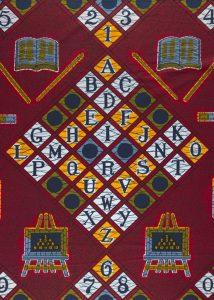Het Alfabet-patroon staat symbool voor onderwijs.