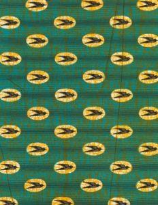 Het Zwaluwen-patroon werd in de jaren 70 gebruikt door Air Afrique voor de kleding van het kabinepersoneel.