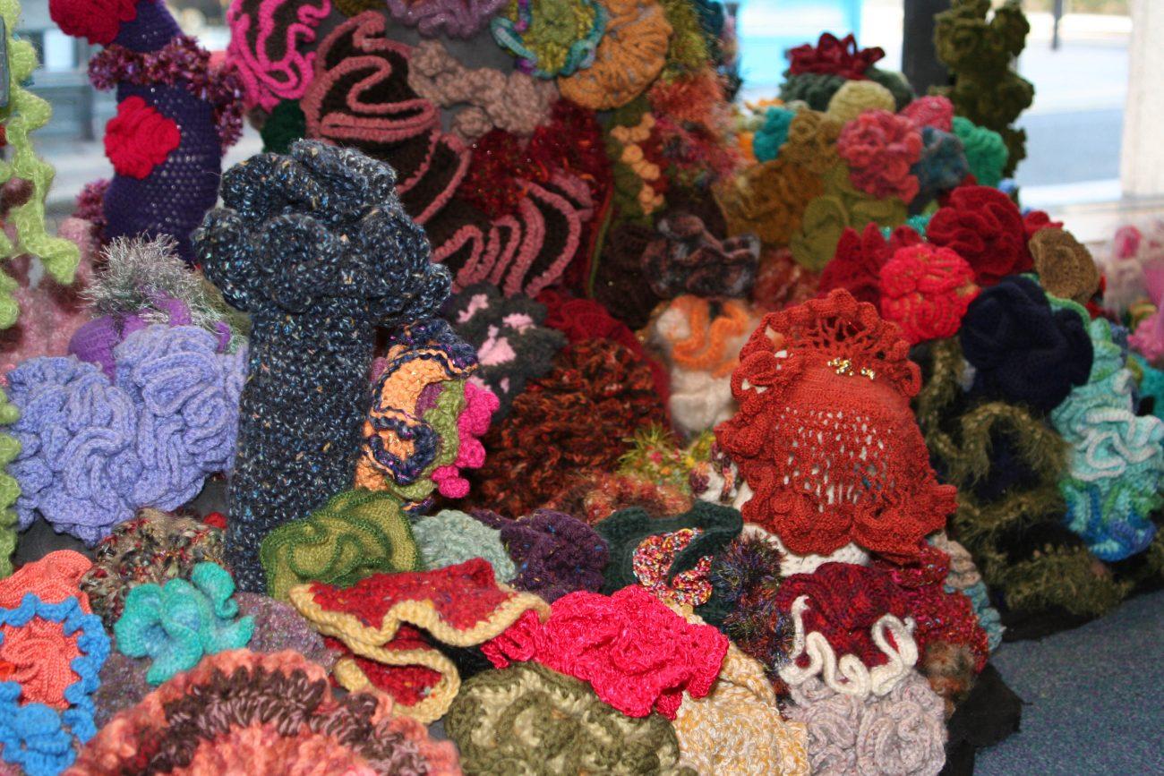 Crochet Coral Reef: een sombere boodschap, maar een enorme kleurenpracht.
