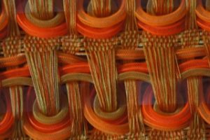 Marijke Scheepstra, Oranje weefsel (detail).
